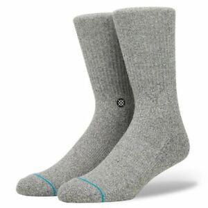 NWT Stance Icon Socks Grey Heather Size Large (9-12)