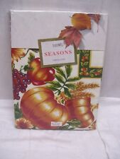 "THANKSGIVING COLORFUL HARVEST TABLECLOTH 60 X 102 OBLONG ""SEASONS"" BARDWIL NEW"