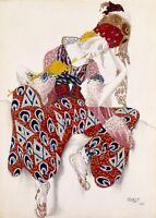 La Péri Nijinsky Costume design by LEON BAKST Vintage Ballet Posters