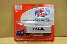 HO Classic Mini Metal Yale White Super Power Tractor 32' Aero Van Trailer 31136