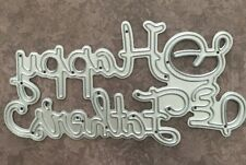 """Metal Cutting Die-Happy Father's Day """"gros mot sentiment (047)"""