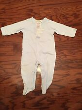 Juicy Couture Baby Boy Blue Footie Sleeper Coverall Layette Size 6-9 months