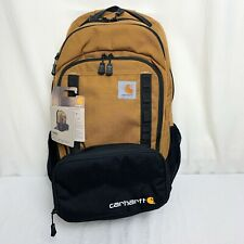 Carhartt Backpack Cargo Large Pack + 3 Can Insulated Cooler (Brown) NEW