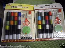 3 X 51PK Sewing Kit Clasic Household Articles Scissors Thread Thimble Button