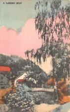 A GARDEN SPOT JAPAN WATERCOLOR ORSONI POSTCARD (c. 1910)
