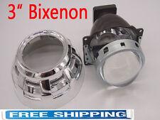 """3"""" Q5 Bi-Xenon Retrofit Projector Lens H4 H7 H1 High low Hi/Lo Beam,Shroud Combo"""