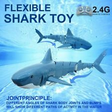 New Listing2.4G Remote Control Shark Rc Boat Electronic Fish Kids Toys for Swimming Pools