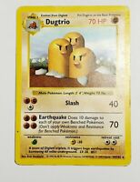 Dugtrio - Base Set Shadowless 19/102 - Rare Pokemon Card - WOTC 1999 Vintage