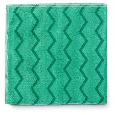 Rubbermaid Commercial Q620 Reusable Cleaning Cloths Microfiber 16 x 16 Green ...