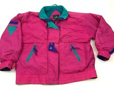 VINTAGE Cabin Creek Ski Jacket Women's Size Medium M Pink Colorblock Retro 90s