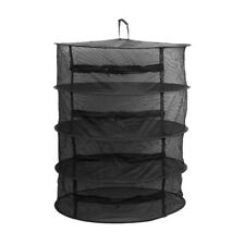 4 Layer Black Dry Net Hanging Herb Drying Rack with Zipper for Bud,Food,Tea