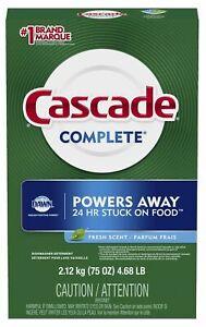 Cascade Complete Brilliant Shine Dishwater Detergent (Fresh Scent) 75 oz. 4.68LB