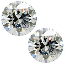 1.50ct 2pc VVS1/6.10mm H-I WHITE COLOR ROUND LOOSE MOISSANITE earring