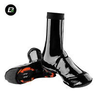 RockBros Reflective Bike Shoe Covers Winter Windproof Protector Overshoes Black