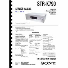 Sony STR-K790 Stereo Receiver Service Manual (Pages: 56) 11x17 Drawings