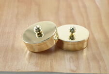 (2 pcs) Classic Round Metal End Cap For 52mm Staircase Timber Handrail Mopstick