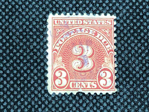 US Stamp Scott #J82 1931 3c Postage Due Used