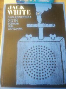 Jack White tour poster 2018 Warsaw