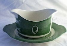 Royal USA Colonial Homestead Green  Gravy Boat & Underplate