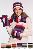 ScarvesMe C.C Women's Brilliant Multi Color Striped Knit Winter Fall Warm Scarf