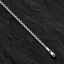 "14k White Gold Cable Link Pendant Chain/Necklace 24"" 3.1 mm 13.5 grams WCAB080"