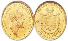 Pièces de monnaie de l'Europe du Nord, de Suède