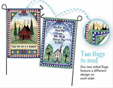 NEW EVERGREEN TWO-SIDED FLAG EACH NEW DAY IS A BLESSING SERVE THE LORD  12.5x18