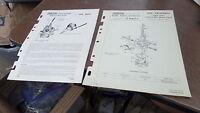 Zenith Carburetor 17 MXZ-5 Service Bulletin & Parts Diagram Fiche 58 Triumph T20