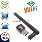 Mini 150Mbps USB WiFi Wireless Adapter Dongle LAN Card 802.11n/g/b w/Antenna MT
