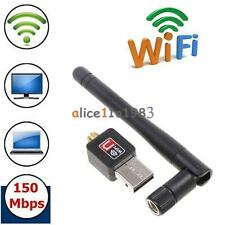 Mini 150Mbps USB WiFi Wireless Adapter Dongle LAN Card 802.11n/g/b w/Antenna MT