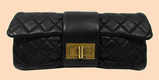 CHANEL BYZANCE TREASURE Black Quilted Leather Clutch Bag  *FREE SHIPPING*