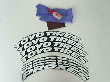 """Toyo Tires Proxes Stickers Tire Lettering 1"""" Size 14"""" to 22"""" Whells (10 Pcs)"""