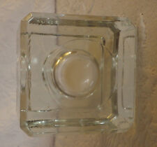 """Square Glass Candle Holder 2"""" Tall"""