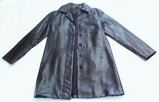 Genuine Leather Coat Black Express World Brand Womens Sz Medium