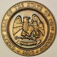 1912-1962 New Mexico Commemorative Bronze Medal Golden State Anniversary