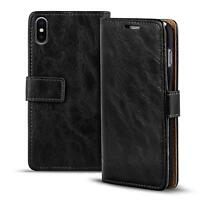 Handy Tasche Apple iPhone X Flip Cover Case Schutz Hülle Wallet Premium Etui