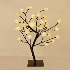 Modern Floral Rose Tree Table Lamp 32 Warm White Leds Flower Light Home Lighting