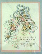 "JANLYNN Counted Cross Stitch Kit Wedding Bells 10"" x 12"" Stoney Creek 80-51 NIP"