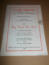 "GLOBE THEATRE "" RING ROUND THE MOON "" ORIGINAL THEATRE PROGRAMME 1950"