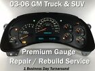 03-06 Silverado Sierra Speedometer Instrument Gauge Cluster REPAIR SERVICE