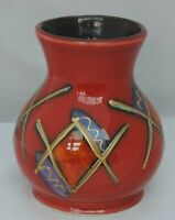 Anita Harris Trial Vase - 11cm tall - signed in silver to base