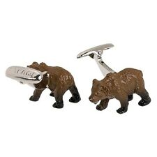 Bear Brown Forest Grizzly Zoo Cufflinks Fish Mammal Furry Chicago Animal Cub