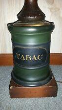Vintage Table Lamp Cigar Store Smoking Room Tobacco Tabac Ceramic Wood