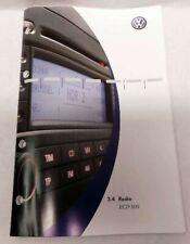 VW Golf V 1K Manual de Instrucciones Radio Rcd 500 251.556.RA5.00 Bj.2004