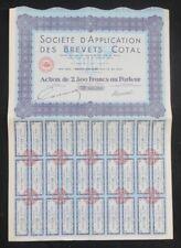 Action Société d'application des brevets COTAL Neuilly bond share 2