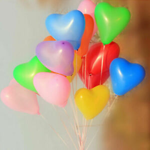 15 Heart Shaped Balloons Decoration Kids Birthday Party Bags Festive Latex