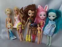 Mattel Enchantimals Lot of Dolls Plus Assorted Small Dolls Incl. Disney Barbie