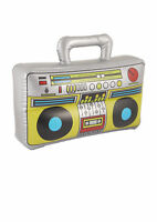Inflatable Small Boom Box - Pinata Costume 80's Hip Hop Fancy Dress Novelty