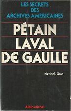 PETAIN LAVAL DE GAULLE NERIN E GUN SECRETS + PARIS POSTER GUIDE