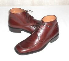 Nuova Veregra Men's Brown Leather Ankle Boot Made in Italy Italian 5  US 7-7.5